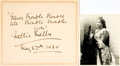 Autographs:Non-American, Nellie Melba Autograph Quote Signed. ... (Total: 2 Items)