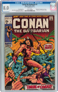 Bronze Age (1970-1979):Adventure, Conan the Barbarian #1 (Marvel, 1970) CGC VF 8.0 White pages....