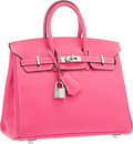 Luxury Accessories:Bags, Hermes Limited Edition Candy Collection 25cm Rose Tyrien &Rubis Epsom Leather Birkin Bag with Palladium Hardware . VeryG...