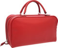"""Luxury Accessories:Bags, Hermes 36cm Rouge Vif Epsom Leather Sac Envi Bag with PalladiumHardware. Very Good Condition. 14"""" Width x 8"""" Heightx..."""