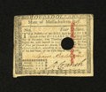 Colonial Notes:Massachusetts, Massachusetts May 5, 1780 $4 About New. The familiar punch cancelis found on this note that has an approximate one inch spl...