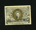 """Fractional Currency:Second Issue, Fr. 1234 5c Second Issue New+++. A wonderful example of this very scarce number with clearly defined """"S-18-63"""" surcharges on..."""