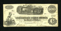 Confederate Notes:1862 Issues, T40 $100 1862. This Extremely Fine C-note was issued at Mobile onMarch 28, 1863....