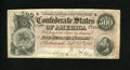 Confederate Notes:1864 Issues, T64 $500 1864. A tiny nick is noticed at top center on this popular design that falls just short of a full VF grade. Fine-...
