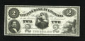 Obsoletes By State:Louisiana, New Orleans, LA- Citizens' Bank of Louisiana $2 18__. President Fillmore's portrait is found on this black and white remaind...