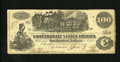 Confederate Notes:1862 Issues, T39 $100 1862. Nicely circulated example of the Train note withstraight steam coming out of the boiler. Very Fine....