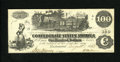 Confederate Notes:1862 Issues, T39 $100 1862. This was an interest bearing note, thus it was morelikely to be saved than spent. An interest statement is f...