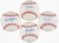 Baseball Collectibles:Hats, Blyleven, Johnson, Maddux and Sutter Single Signed Baseballs Lot of 4....