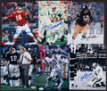 Football Collectibles:Photos, Quarterback Greats Signed Photographs Lot of 6....