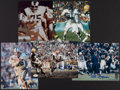 Football Collectibles:Photos, Football Greats Signed Photographs Lot of 5....