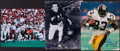 Football Collectibles:Photos, Football Greats Signed Photographs Lot of 3....