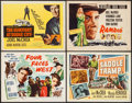 "Movie Posters:Western, Four Faces West & Others Lot (Favorite Attractions, R-1953). Title Lobby Cards (4) (11"" X 14""). Western.. ... (Total: 4 Items)"