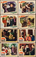 "Movie Posters:Western, Outlaws of the Rio Grande & Other Lot (PRC, 1941). Lobby Cards (8) (11"" X 14""). Western.. ... (Total: 8 Items)"
