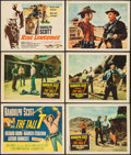 "Movie Posters:Western, The Tall T & Others Lot (Columbia, 1957). Title Lobby Cards(2), Lobby cards (9) (11"" X 14""). Western.. ... (Total: 11 Items)"