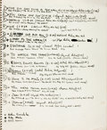 Books:Manuscripts, [Manuscripts]. Rod McKuen Personal Notebook, Circa 1970. . ...