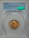 Lincoln Cents: , 1932 1C MS65 Red PCGS. CAC. PCGS Population (759/491). NGC Census: (240/198). Mintage: 9,062,000. Numismedia Wsl. Price for...