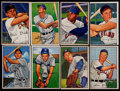 Baseball Cards:Lots, 1952 Bowman Baseball Collection (100) With 9 High Numbers....