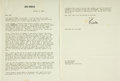 Autographs:Celebrities, Kirk Douglas Typed Letter with Secretarial Signature. Dated October9, 1968. . ...