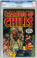 Golden Age (1938-1955):Horror, Chamber of Chills #9 (Harvey, 1952) CGC VF 8.0 Cream to off-whitepages....