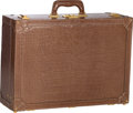 """Luxury Accessories:Travel/Trunks, Gucci Matte Brown Alligator Suitcase Bag with Gold Hardware.Excellent Condition. 24"""" Width x 17"""" Height x 7.5""""Depth..."""