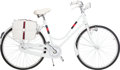 Luxury Accessories:Home, Gucci Limited Edition White Carbon Fiber & Aluminum Bicyclewith Monogram Canvas Saddle Bags. Very Good to ExcellentCondi...