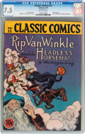 Golden Age (1938-1955):Classics Illustrated, Classic Comics #12 Rip Van Winkle (Gilberton, 1943) CGC VF- 7.5Off-white pages....