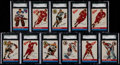 Hockey Cards:Lots, 1954 Topps Hockey SGC Graded Collection (11) With Stars &HoFers. ...