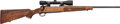 Long Guns:Bolt Action, Winchester Model 70 Featherweight Bolt Action Rifle with TelescopicSight....