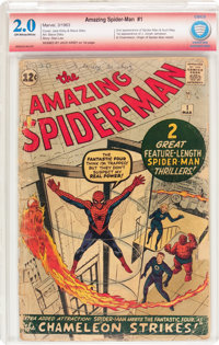 The Amazing Spider-Man #1 Verified Signature Series (Marvel, 1963) CBCS GD 2.0 Off-white to white pages
