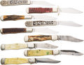 Edged Weapons:Knives, Lot of 9 Bottle Shaped Folders....