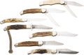 Edged Weapons:Knives, Lot of 7 Folders....