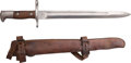 Edged Weapons:Bayonets, Model 1902 Knife Bayonet for U.S. Krag Rifle with LeatherScabbard....