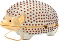 "Luxury Accessories:Bags, Judith Leiber Full Bead Silver Crystal Hedgehog Minaudiere Evening Bag. Very Good to Excellent Condition. 4"" Width x 3..."