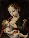 Old Master:Other, The Master of the Parrot (Flemish, active Antwerp circa 1520).The Virgin Nursing the Christ Child. Oil on panel. 11 x 8...