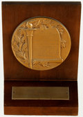 Books:Furniture & Accessories, [Awards and Commendations]. Rod McKuen Horatio Alger Award. DatedNovember 12, 1976. . ...