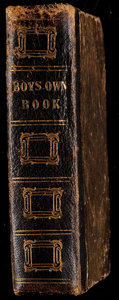 """Football Collectibles:Publications, 1846 """"The Boys Own Book"""" Hardcover Book - With Misc. Sports Content (Football, etc)...."""
