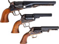 Handguns:Muzzle loading, Assorted Lot of Reproduction Percussion Revolvers.... (Total: 3Items)