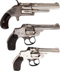 Handguns:Double Action Revolver, Lot of Three Vintage Smith & Wesson Pocket Revolvers.... (Total: 3 Items)