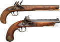 Handguns:Muzzle loading, Lot of Two Modern Flintlock Pistols.... (Total: 2 Items)