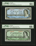 Canadian Currency: , Bank of Canada $1 and $5 Notes PMG Graded.. ... (Total: 3 notes)