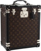 Louis Vuitton Special Order Monogram Macassar Canvas Cave Whiskey Trunk with Crystal & Silver Service Excellent...