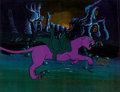Animation Art:Production Cel, He-Man and the Masters of the Universe Panthor Production Cel Setup(Filmation, 1983).... (Total: 2 Original Art)