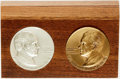 Books:Furniture & Accessories, [U.S.Presidents]. Danbury Mint 1972 Presidential CampaignNumismatics with Wooden Display by the. [1972].. ... (Total: 2Items)