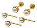 Estate Jewelry:Cufflinks, Cultured Pearl, Gold Dress Set, Schlumberger for Tiffany & Co.. ...
