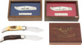 Edged Weapons:Knives, Lot of 4 Boxed Cased Knives....