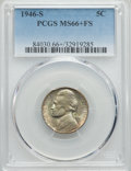 Jefferson Nickels, 1946-S 5C MS66+ Full Steps PCGS. PCGS Population (44/1). NGC Census: (1/0). Numismedia Wsl. Price for problem free NGC/PCG...