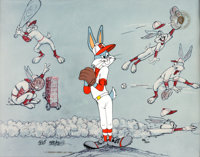 """Baseball Bugs"" Bugs Bunny Signed Limited Edition Cel #986/... (Total: 2)"