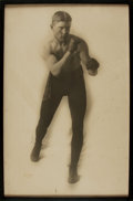 Books:Prints & Leaves, [Boxing] Framed Photograph of Unidentified Turn-of-the-CenturyBoxer. . ...