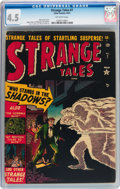 Golden Age (1938-1955):Horror, Strange Tales #7 (Atlas, 1952) CGC VG+ 4.5 Off-white pages....