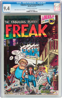 The Fabulous Furry Freak Brothers #1 First Printing Variant (Rip Off Press, 1971) CGC NM 9.4 Off-white to white pages...